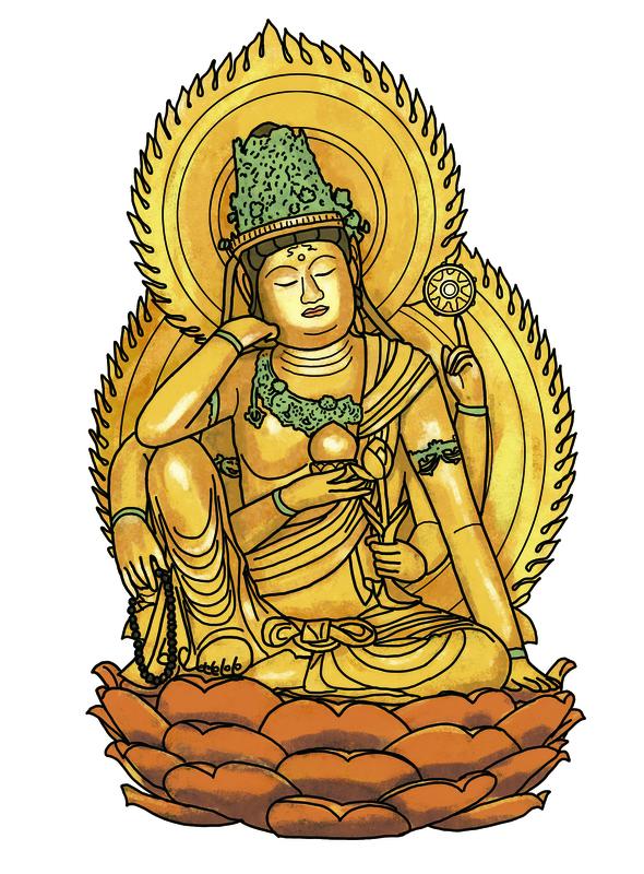 イラストで密教仏 仏像イラストレーターの田中ひろみさんが醍醐寺展